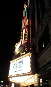 Neil Young at the Fox Theater Marquee